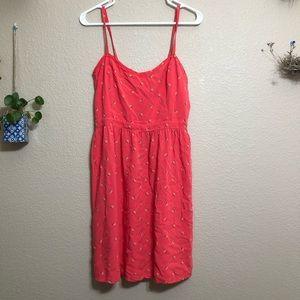 Old Navy Dark Salmon Sun Dress
